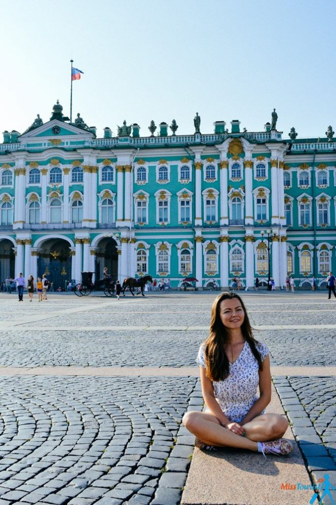 Palace square in the summer St Pete
