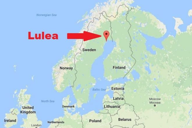 Lulea on the map
