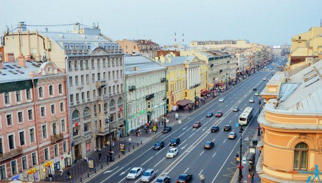 Nevsky prospect St petersburg russia