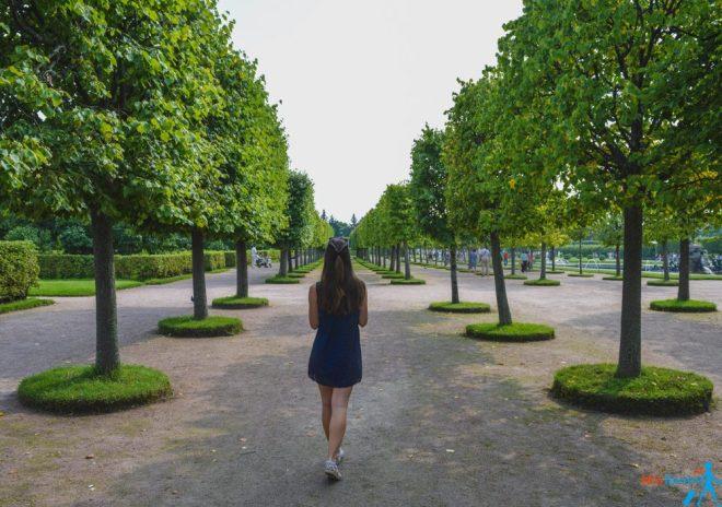 Peterhof park in Saint Petersburg