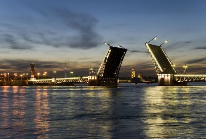drawing of the bridges Saint Petersburg Russia2