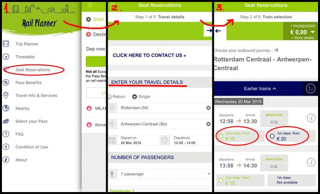 Interrail Eurrail - is it really worth it how to reserve seat in app 1