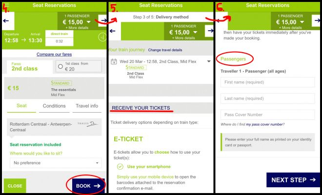 Interrail Eurrail - is it really worth it how to reserve seat in app 2