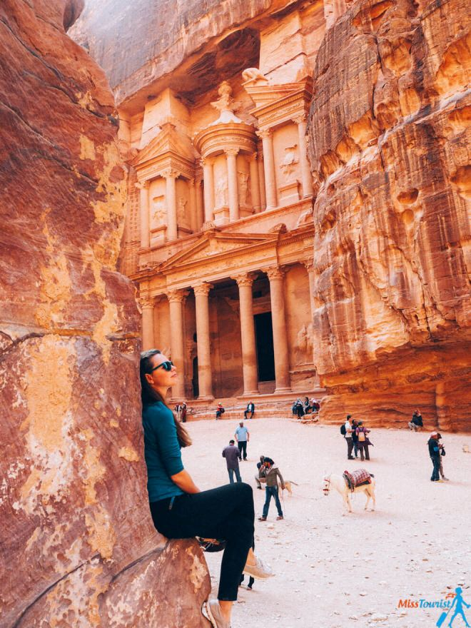Petra in Jordan wonder photo view