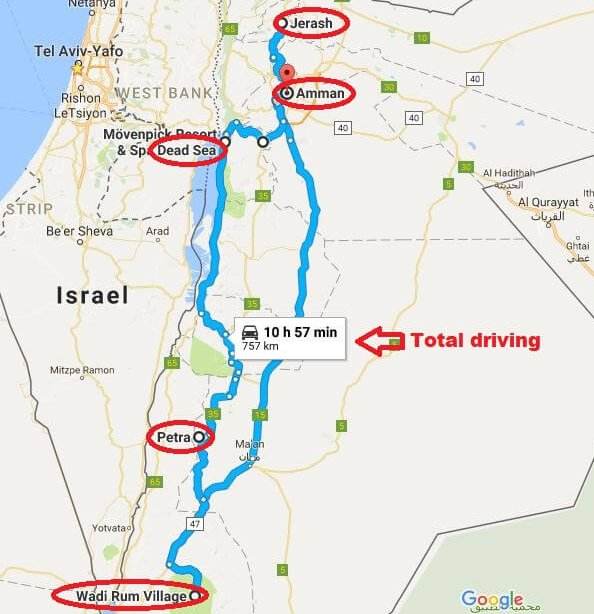 Jordan 6 days tour itinerary