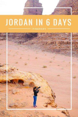 Jordan in 6 days itinerary