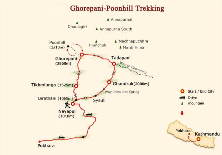 2.0 Poon Hill map trek