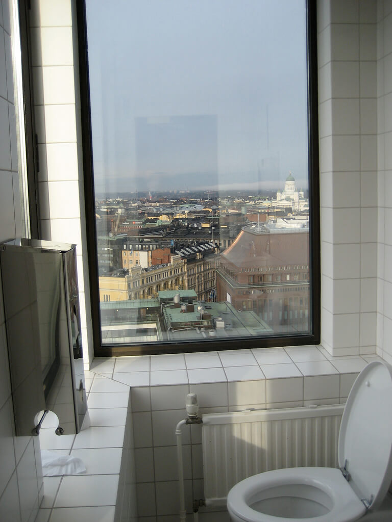 What to do in Helsinki: Torni Ateljee Bar toilet with a view