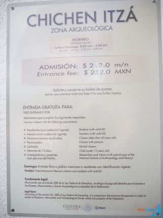 1 Chichen Itza entrance price