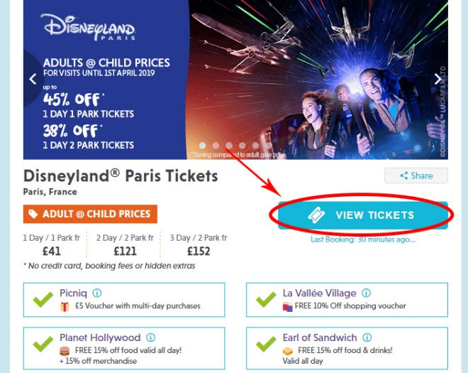Cheap tickets to Disneyland, Paris Disneyland Picniq- screenshot1