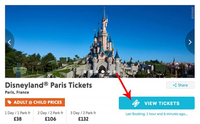 Cheap tickets to Disneyland, Paris - how to save at least 20€ per person 2(2)