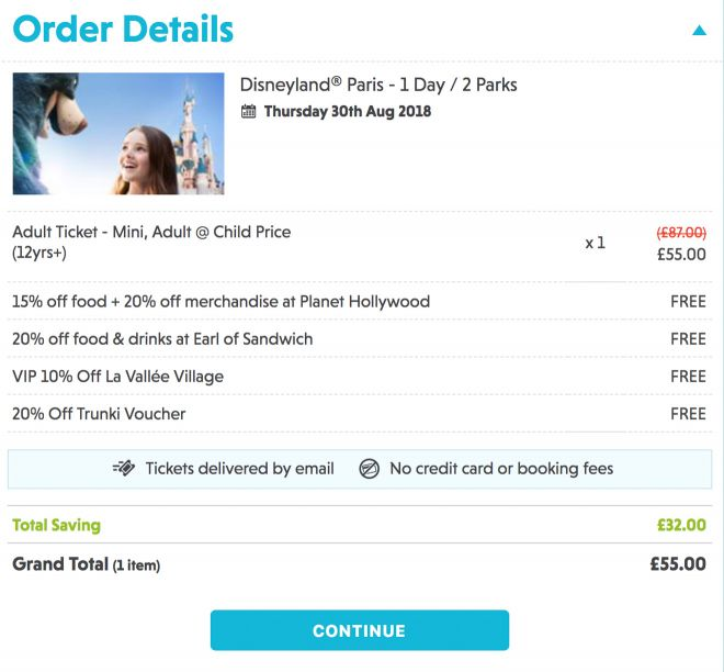 Cheap tickets to Disneyland, Paris - how to save at least 20€ per person 8