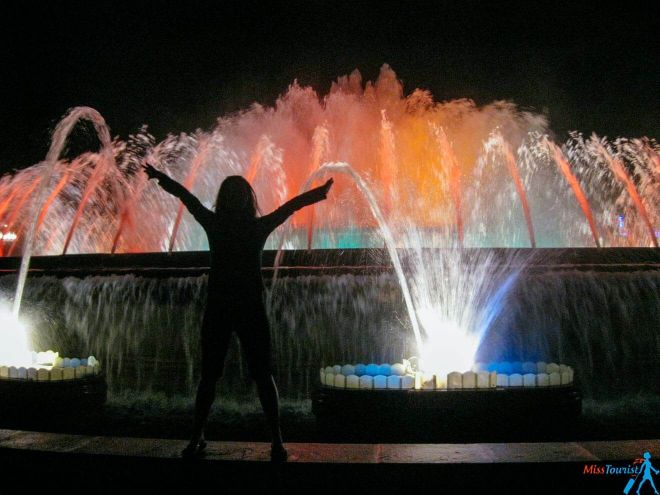 4 Magic Fountains show Barcelona