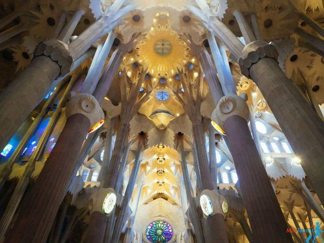 Sagrada familia interior Barcelona
