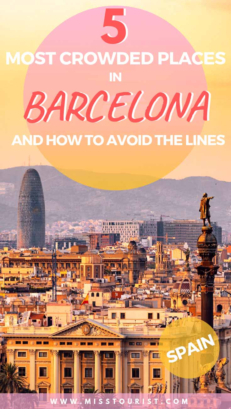 crowded places in barcelona