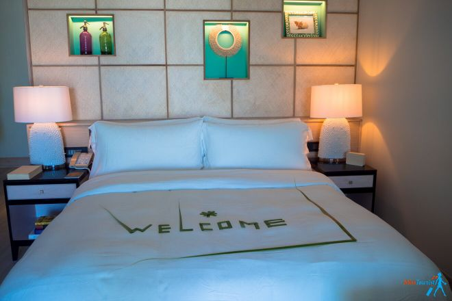 Kanuhura Resort in the Maldives Your Private Escape room accomodation bed