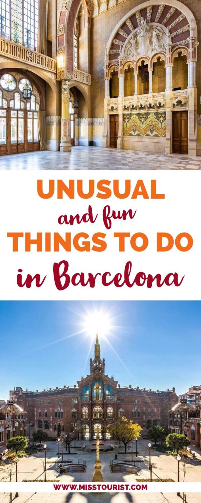 pin 2 Unusual and Fun Things To Do in Barcelona Spain