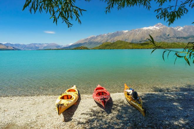 Ultimate South Island Road Trip in New Zealand kayak