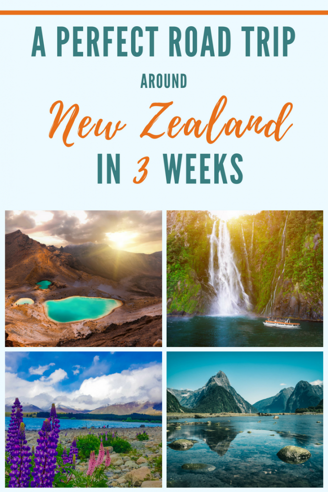 A Perfect Road Trip Around New Zealand in 3 Weeks pin it 2