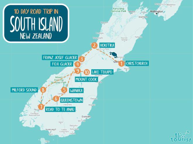 south island itinerary