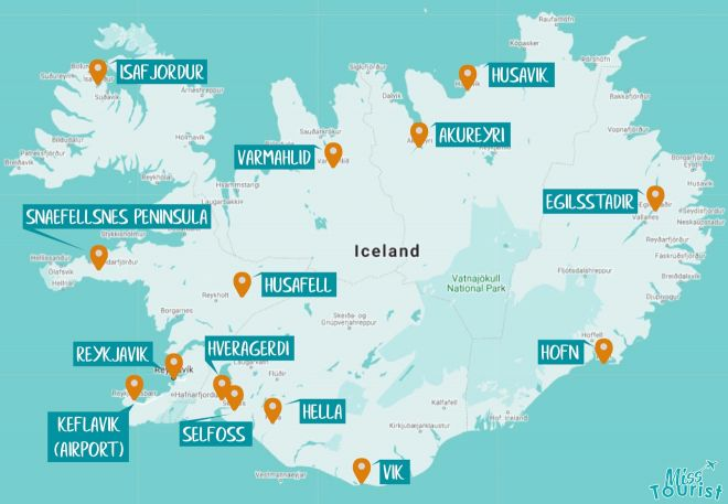 iceland map areas