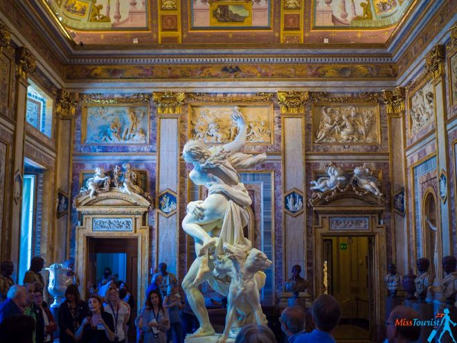 6 most crowded places in Rome and how to avoid the line Galleria Borghese (5)