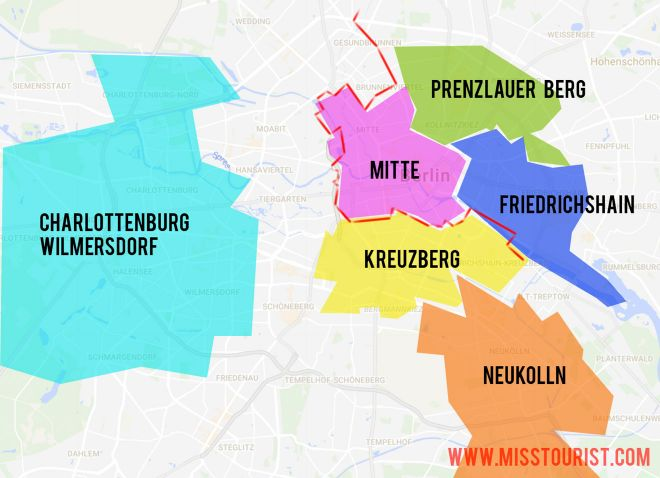 5 Best Neighborhoods To Stay In Berlin neighborhoods map in berlin