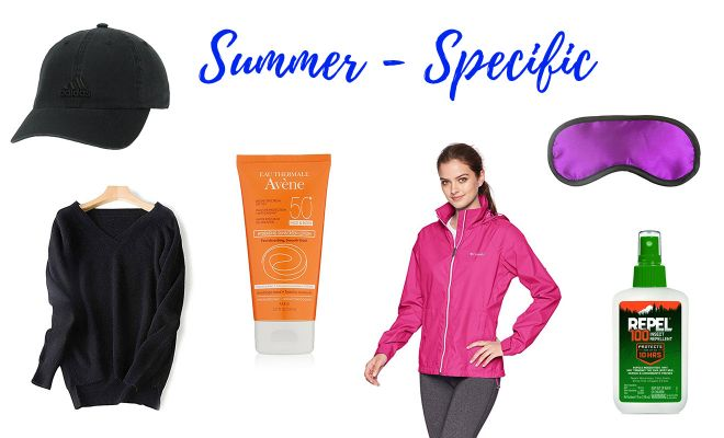 Iceland All Seasons Packing List Summer Items