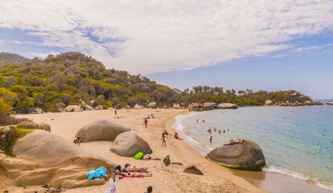 Where To Stay In Tayrona National Park Colombia beach