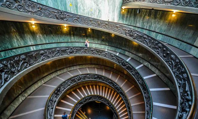 Vatican Museums staircase vatican museum tickets