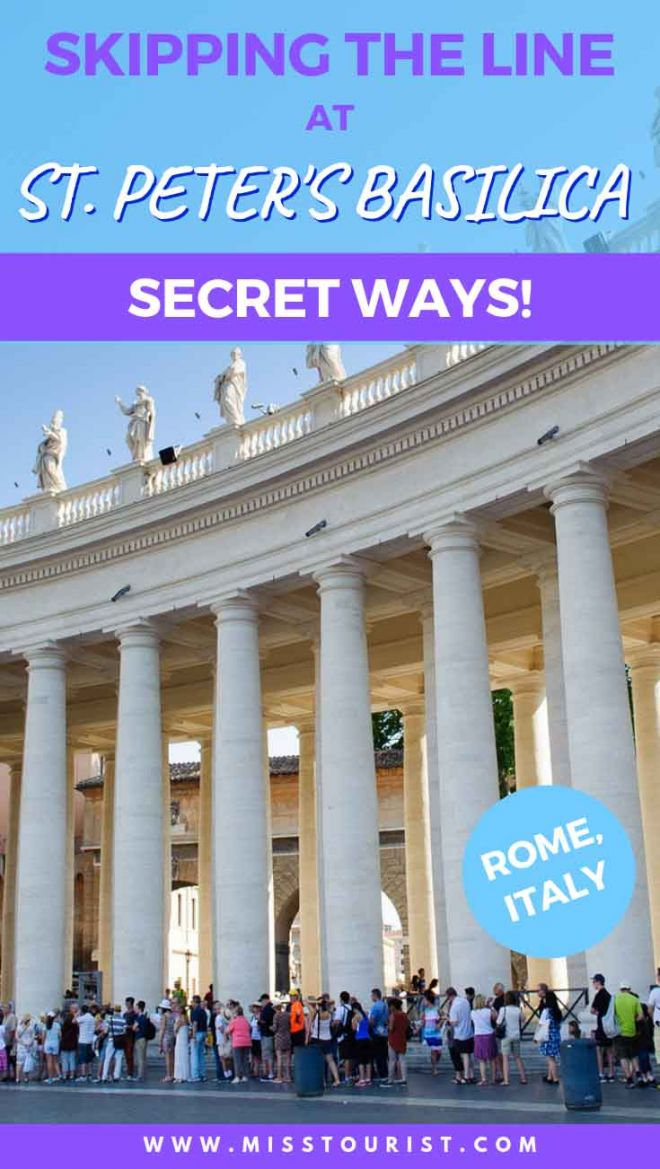 Skipping the line at St Peter's Basilica - Secret Ways Rome Italy