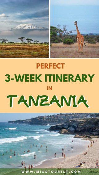 perfect itinerary for Tanzania
