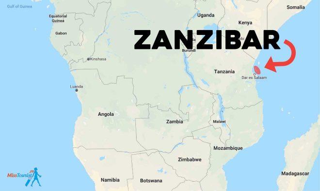 Map Of Africa Zanzibar.Zanzibar Hotels And Beaches Where To Stay In Zanzibar