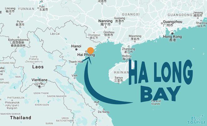 halong bay map