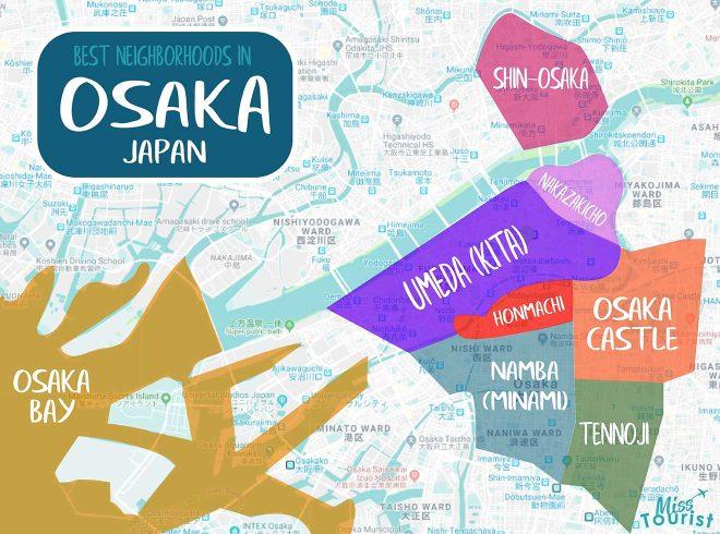 osaka japan map