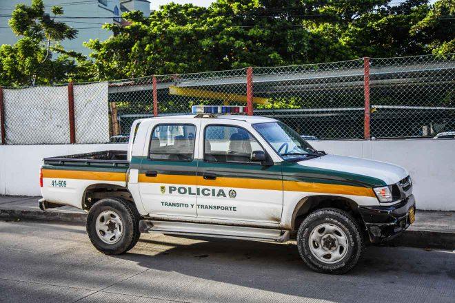 bogota colombia police car