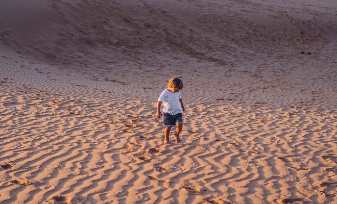 boy in the desert