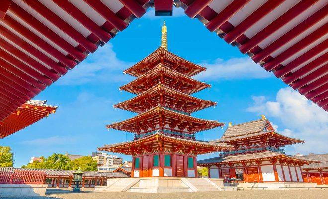 osaka japan oldest temple