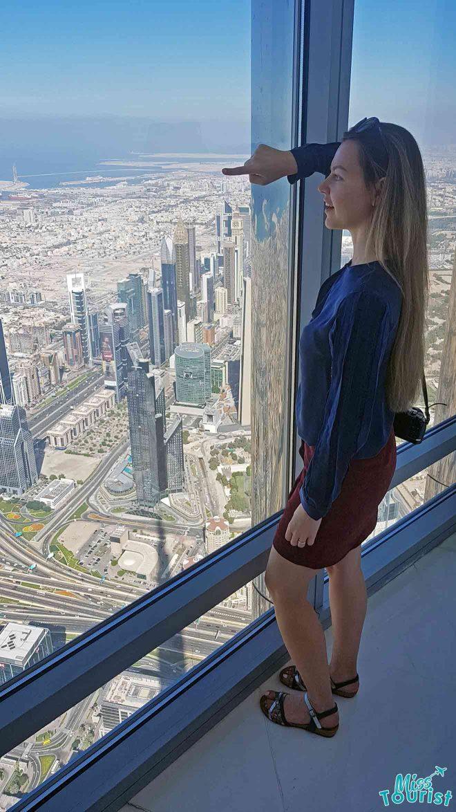 burj khalifa top view