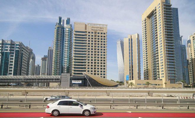 dubai cars buildings