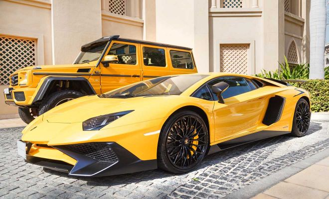 yellow luxury supercar lamborghini