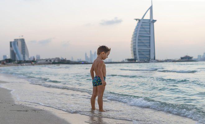 kid burj al arab background