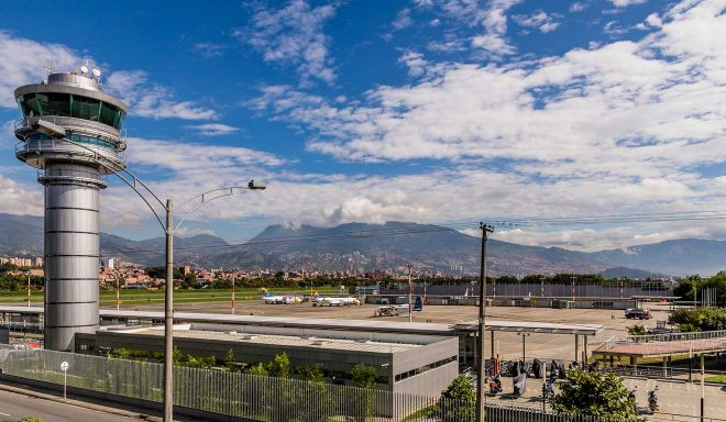 medellin city from the airport