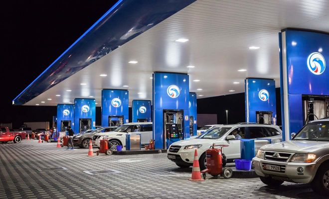 dubai car petrol station
