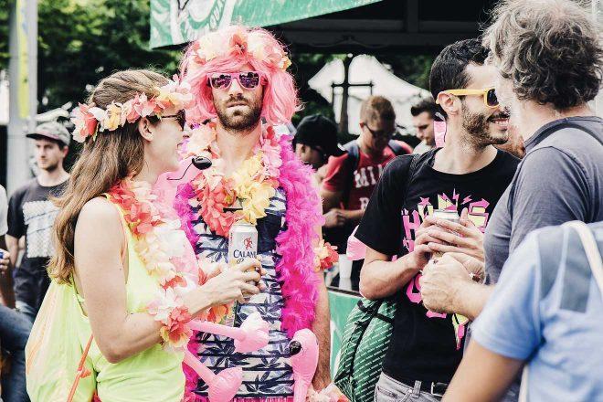 people dressed up zurich