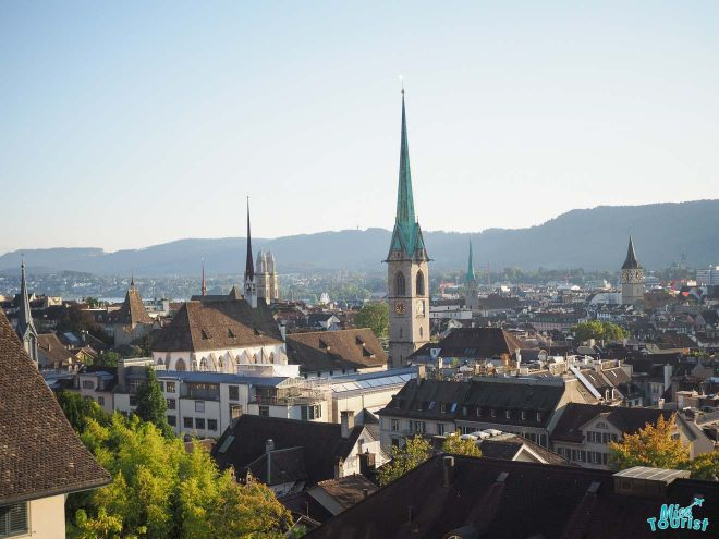 zurich city panoramic view