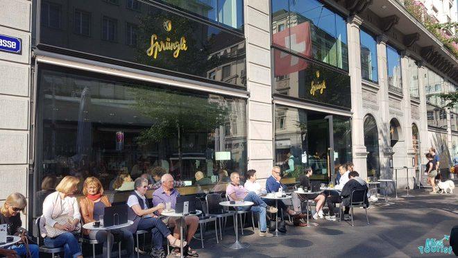 people enjoying coffee zurich