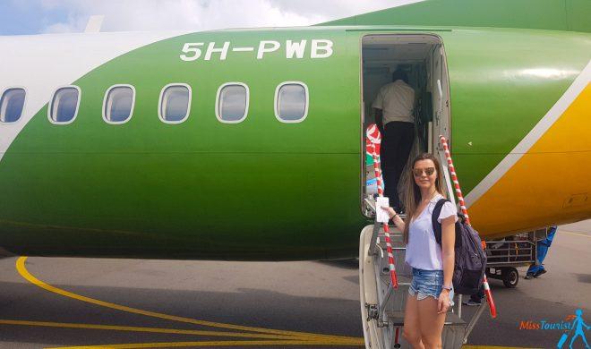 boarding in african plane