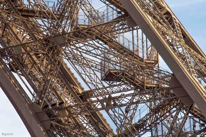 inside eiffel tower