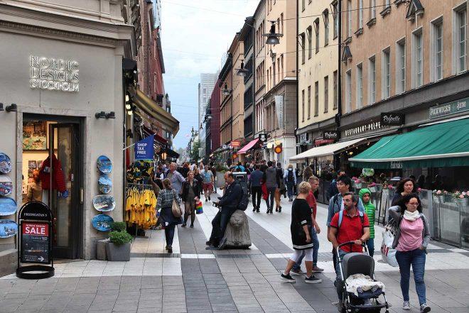 shopping street stockholm